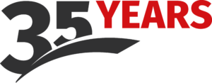 35 Years in business logo